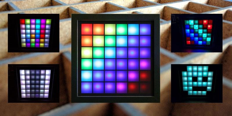 Bau Eines Led Mood Light 6x6 Matrix über Internet Steuerbar